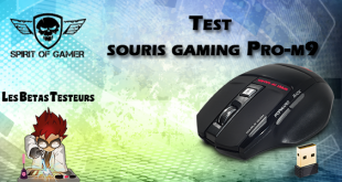 Test de la souris gaming Spirit Of Gamer Pro-m9 - Les Bêtas Testeurs