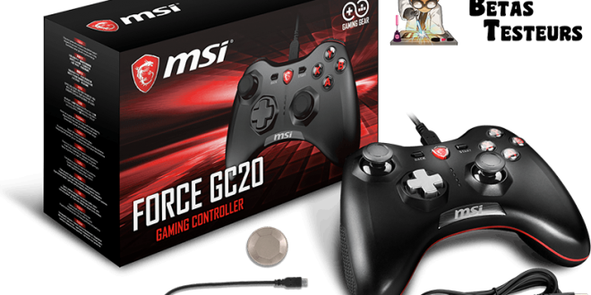 Manette MSI Force GC20 compatible PC